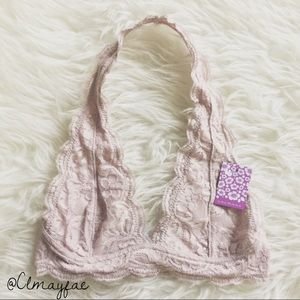 Other - New Blush Lace Halter Bralette